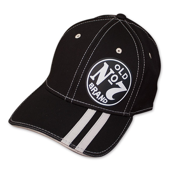 Black Striped Brim Jack Daniel's No. 7 Flex Fit Hat