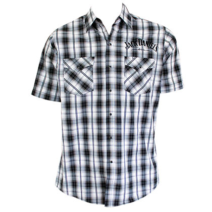 Jack Daniels Plaid Short Sleeve Button Down Shirt