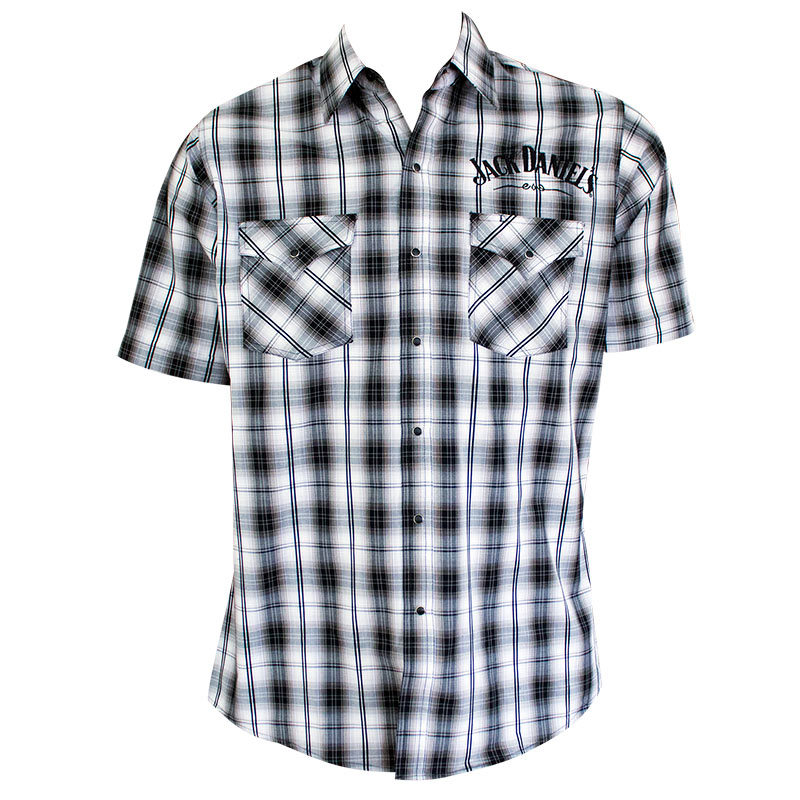 Jack Daniels Men's Plaid Button Down Shirt