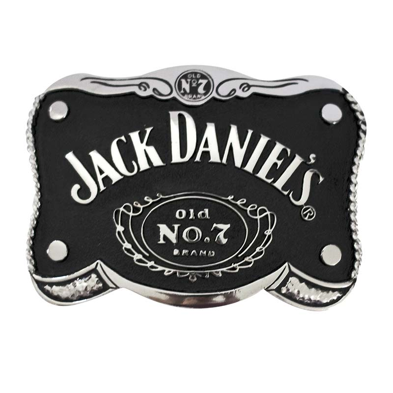 Jack Daniels Black Shaped Belt Buckle