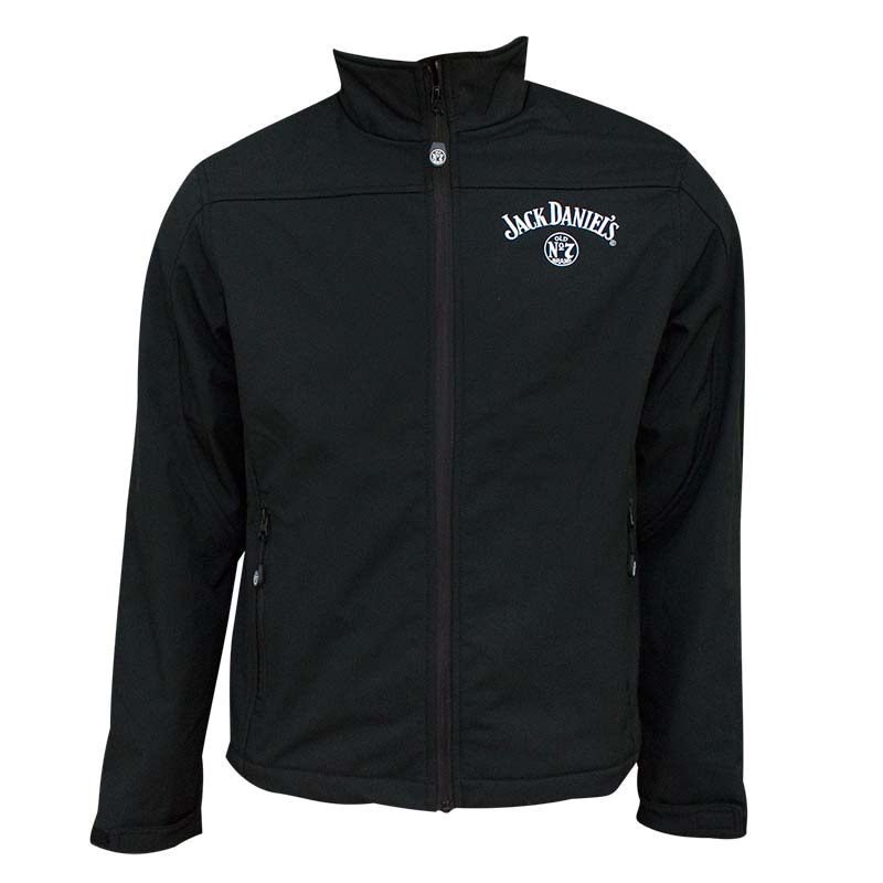 Jack Daniel's Softshell Men's Zip-Up Black Jacket