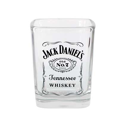 JD SQUARE LOGO LABEL SHOT GLASS PLACEHOLDER