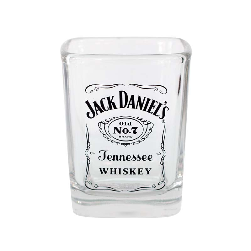 Jack Daniels Logo Label Shot Glass