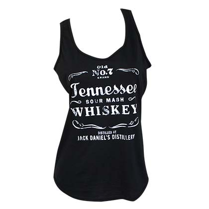 Jack Daniels Women's Black Tennessee Whiskey Tank Top