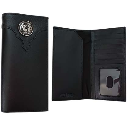 Jack Daniel's Old No. 7 Rodeo Black Leather Wallet