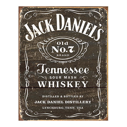 Jack Daniels Label Retro Tin Sign