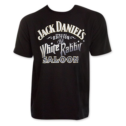 Jack Daniel's Men's White Rabbit Saloon T-Shirt