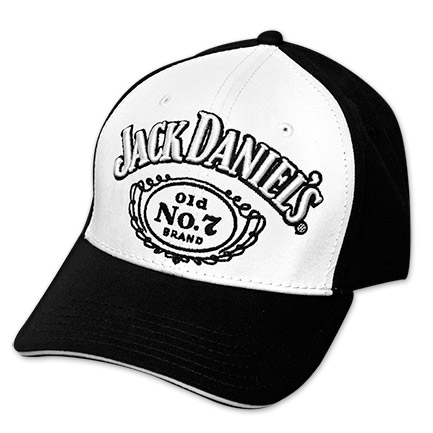 Jack Daniel's Black & White Adjustable Hat