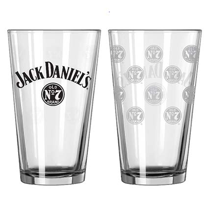 Jack Daniel's Old No. 7 All Over Logo Pint Glass