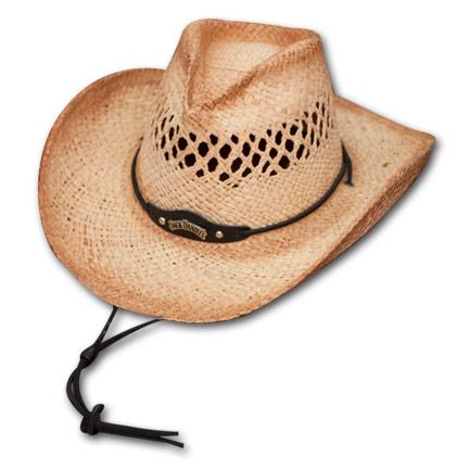 Straw Jack Daniels Cowboy Hat