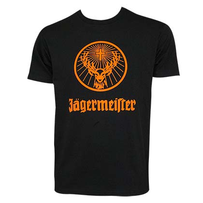 c52de711aba84 Jagermeister Orange Logo Men s Black Tee Shirt