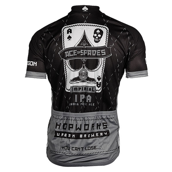 Hopworks Ace Of Spades Men S Black Cycling Jersey
