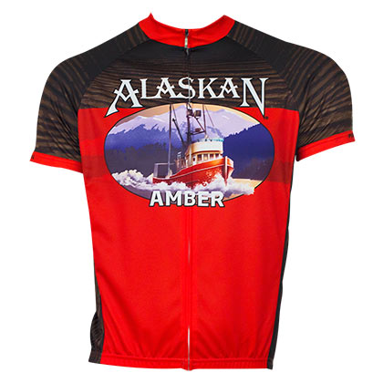 Alaskan Brewing Men's Red Cycling Jersey