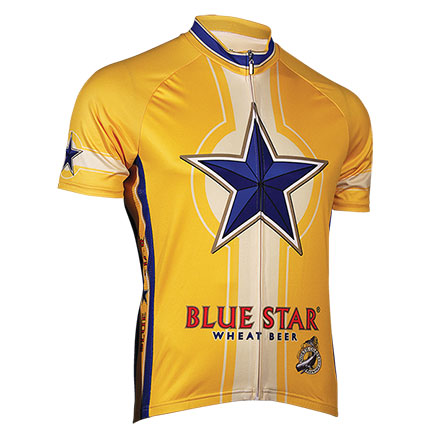 Blue Star Wheat Beer Zip-Up Cycling Jersey