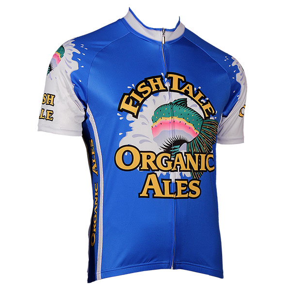 Fish tale organic ale blue zip up cycling jersey for Blue fishing nj