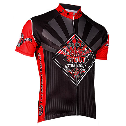 Pike Stout Black Zip-Up Cycling Jersey