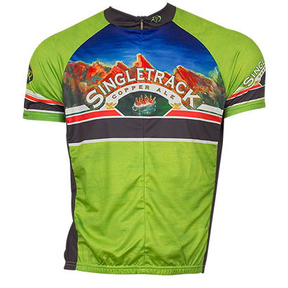 Boulder Beer Green Singletrack Cycling Jersey