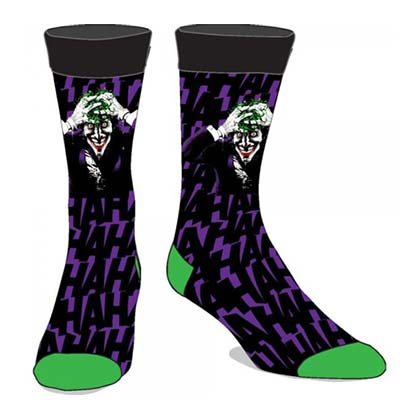 Joker Men's Purple HAHA Crew Socks