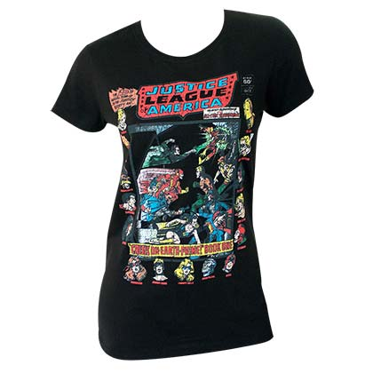 Justice League Juniors Black Group T-Shirt