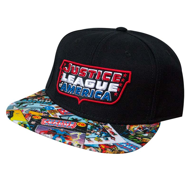 Justice League America Black Snapback Hat