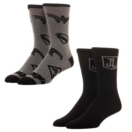 Justice League 2-Pack Black Ankle Socks