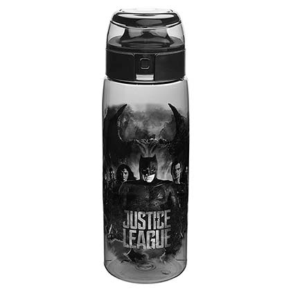 Justice League Plastic Travel Water Bottle With Loop