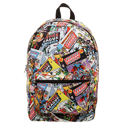 Justice League All Over Print Comic Backpack