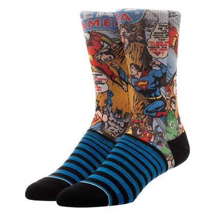 Justice League Sublimated Comic Crew Socks