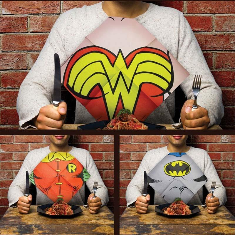 DC Comics Justice League Dress Up Bib Napkins