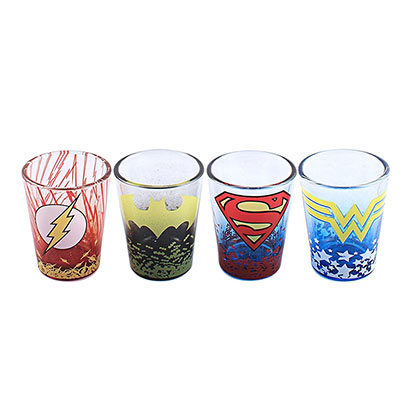 DC LOGOS SHOT GLASS SET PLACEHOLDER