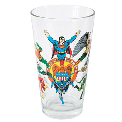 Justice League Toon Tumbler Glass