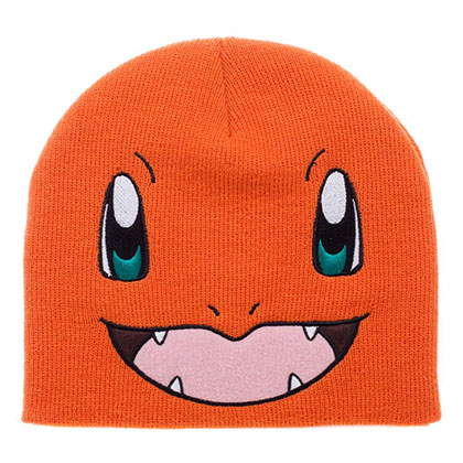 Pokemon Orange Charmander Winter Beanie
