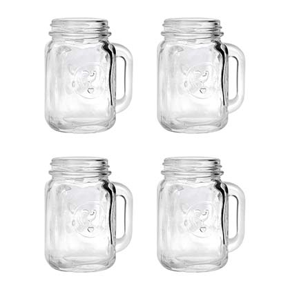 Mason Jar Shot Glass Four Pack