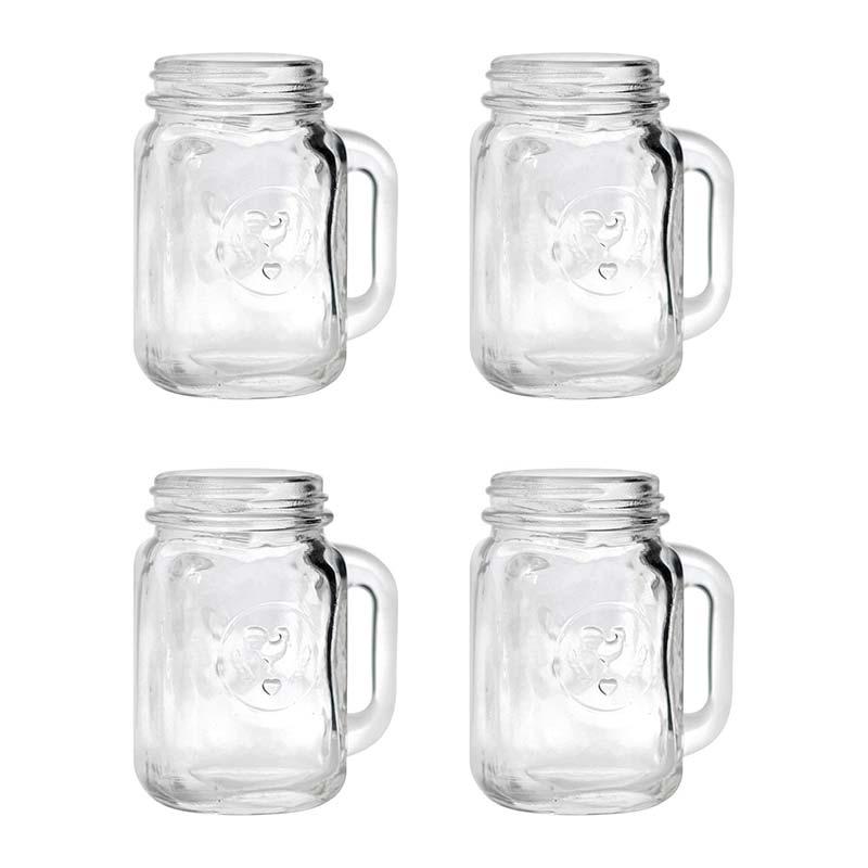 Mason Jar Shot Glass Four Pack