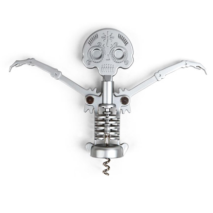Day of the Dead Corkscrew Skeleton