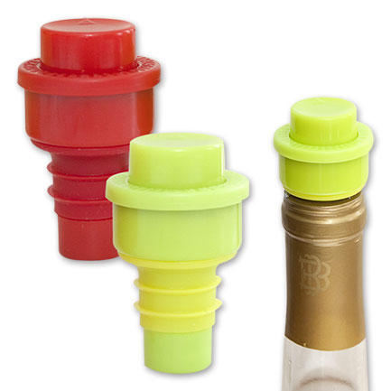Multi-Colored Wine Pump Stopper 2-Pack