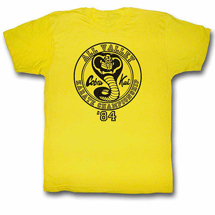 Karate Kid All Valley '84 Yellow TShirt