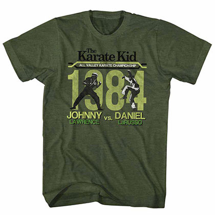 Karate Kid Fight Green TShirt