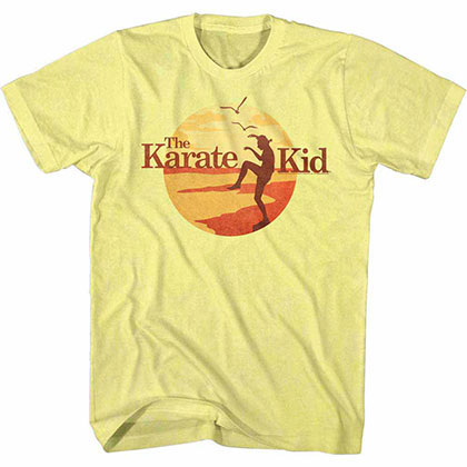 Karate Kid Sunset Kid Yellow TShirt