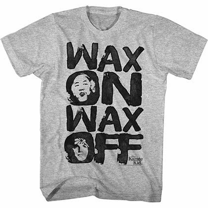 Karate Kid Waxo Gray TShirt