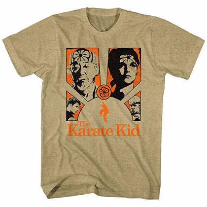 Karate Kid Karate Burst Beige TShirt