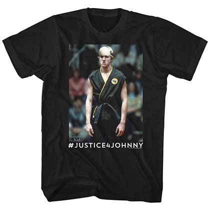 Karate Kid Justice4Johnny Mens Black T-Shirt