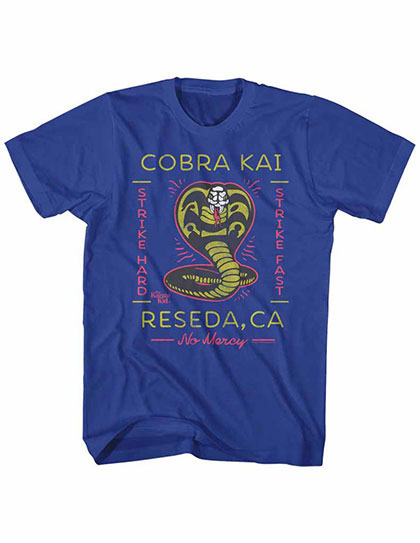 Karate Kid Neon Cobra 2 Blue TShirt