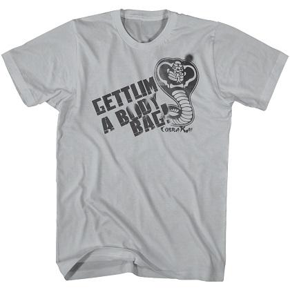 Karate Kid Body Bag Gray Tshirt