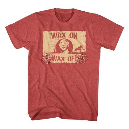 Karate Kid Wax On Wax Off Red Tshirt