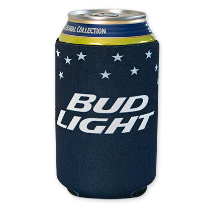 Bud Light Navy Blue Can Cooler
