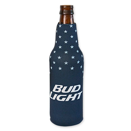 Bud Light Navy Blue Bottle Cooler