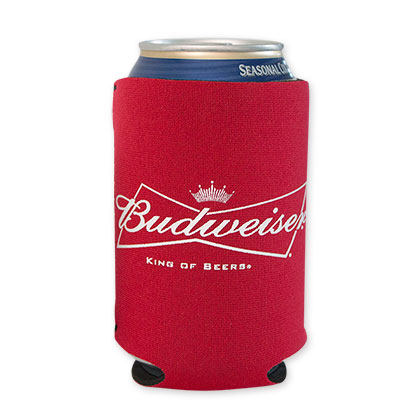 Budweiser Red Beer Can Cooler