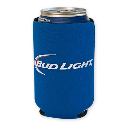 Bud Light Blue Beer Can Cooler
