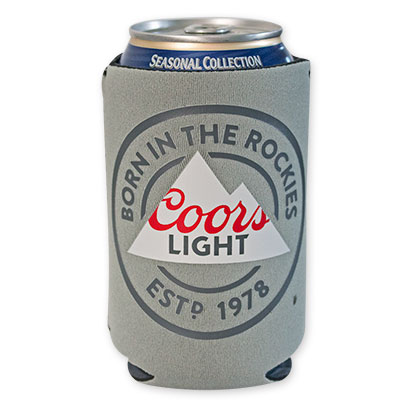 Coors Light Grey Beer Can Cooler
